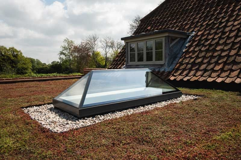 Glazing Vision's fixed lantern rooflight at Norton House, Norfolk: An elongated lantern can harmonise older elements with contemporary additions.