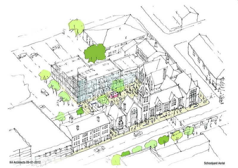 School Yard, Harborne: piecing together a scheme needs a certain skill.