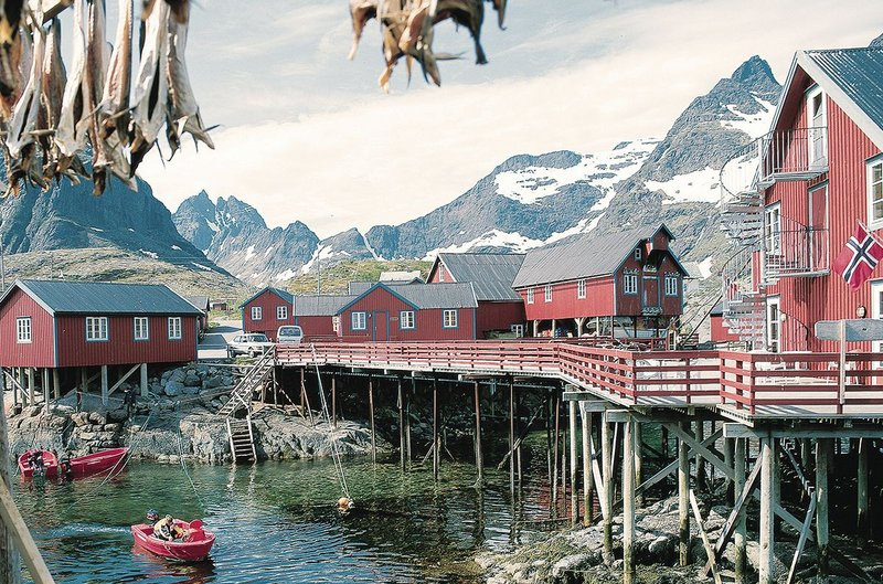 Reine, which has suffered from the decline of the fishing industry.