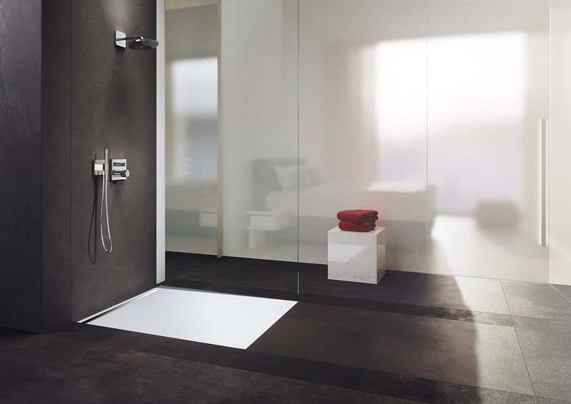 Kaldewei's NexSys shower surface is supplied installation ready.