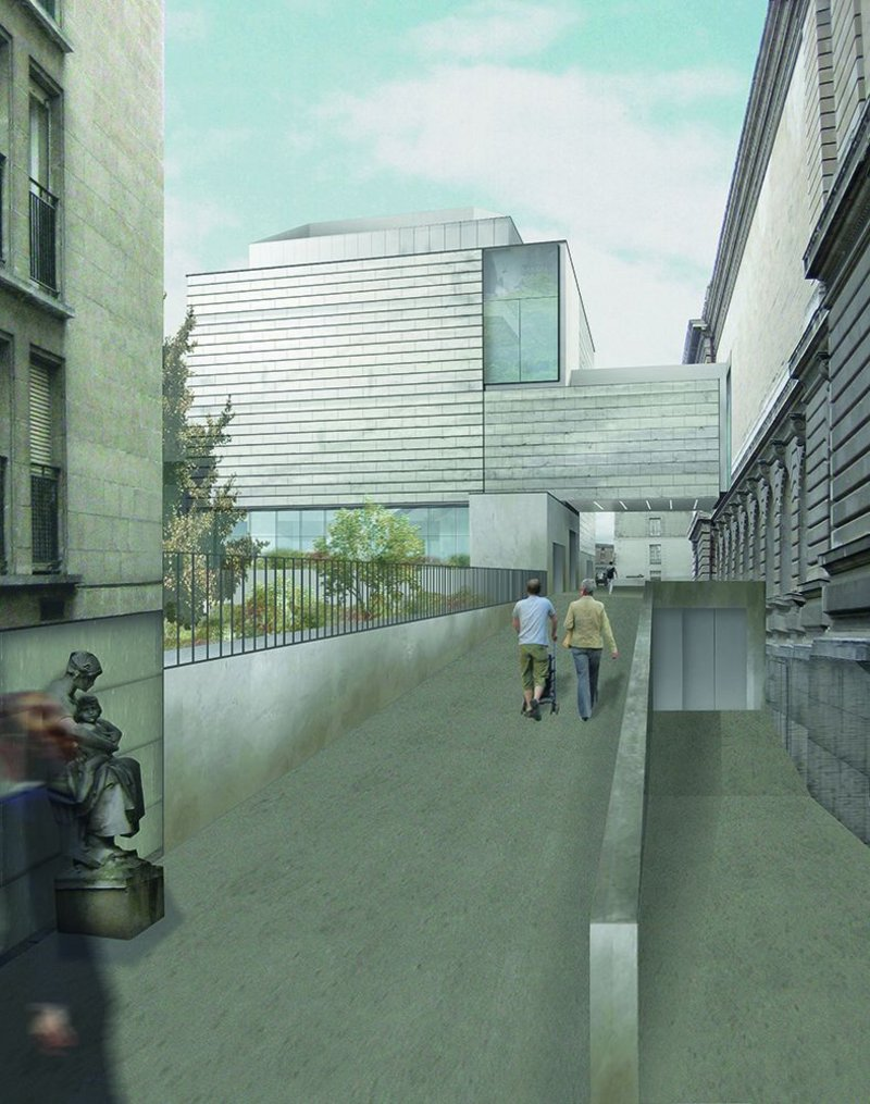 A new building for 21st century art will be linked to the main museum by a first floor bridge over a narrow side street.
