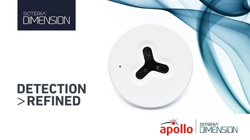 The Soteria Dimension Optical Detector offers an unobtrusive solution ideal for high-end interiors.