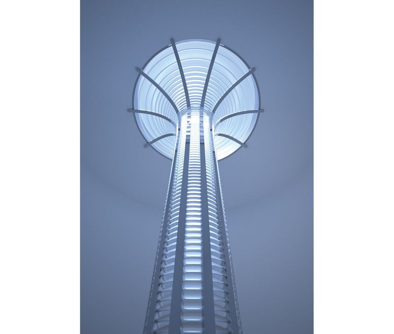 Lightway Galaxy 1200. Typical placement of sunlight collector on the roof. The active mirrored surface is covered with special glass. Sunlight is then led into the building itself through a 520mm diameter tube. Meanwhile, the collector surface has a diameter of 1,200 mm, which ensures huge performance and plenty of daylight inside the building.