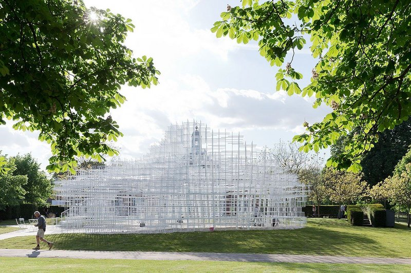 Serpentine Gallery Pavilion 2013 by Sou Fujimoto from Futures of the Future at Japan House London.