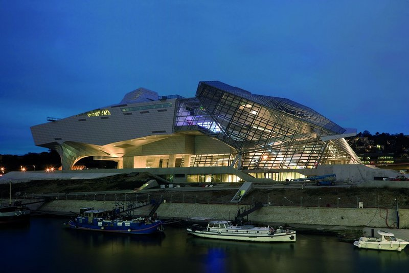 The Musée des Confluences east elevation.