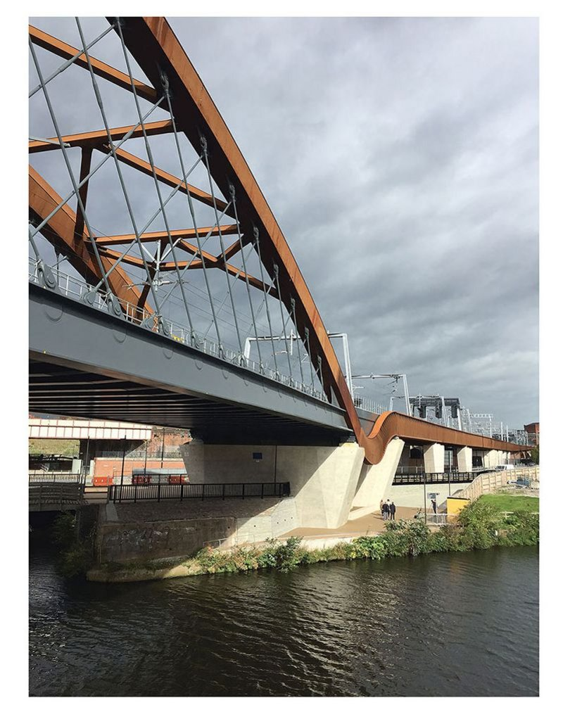 Ordsall Chord, a major piece of infrastructure for Manchester and the region, designed by BDP.