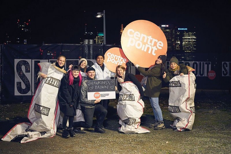 For over 10 years, Centrepoint supporters have been swapping their beds for sleeping bags in Sleep Out, an event to raise money for and awareness of homeless young people. Hawkins\Brown says it believes in the significance of architecture as an agent of social change, and has raised up to £10,000 for Sleep Out since 2016.
