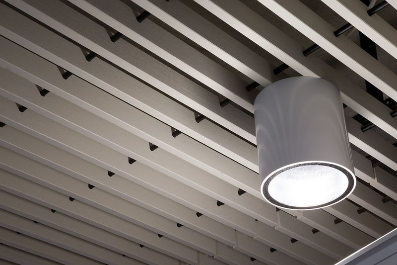Laidlaw Library at the University of Leeds features a timber Hunter Douglas ceiling
