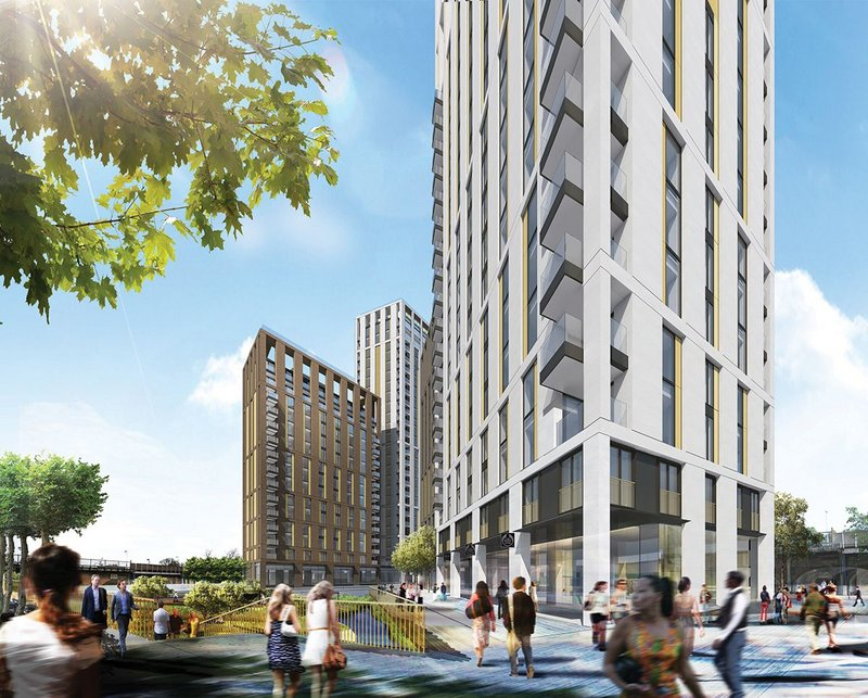 Fizzy Living's Lewisham Gateway scheme, designed  by PRP.