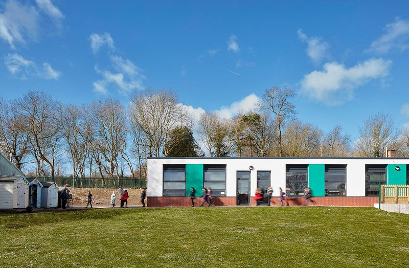 Architect AHR has been involved in DfMA schools projects for many years. At the just-completed Highcliffe primary school in Birstall, Leicester, a modular approach reduced the programme by 50% and fully complied with the DfE's challenging performance specification.