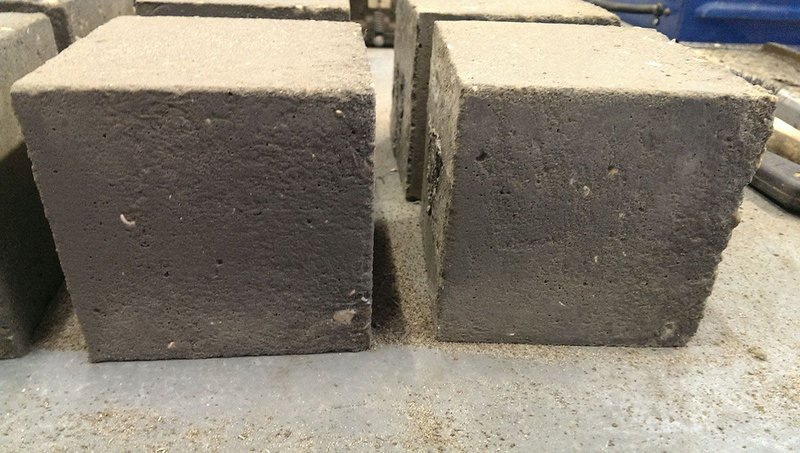 A new, stronger, concrete with graphene should increase flexural strength and reduce deflection. University of Exeter.