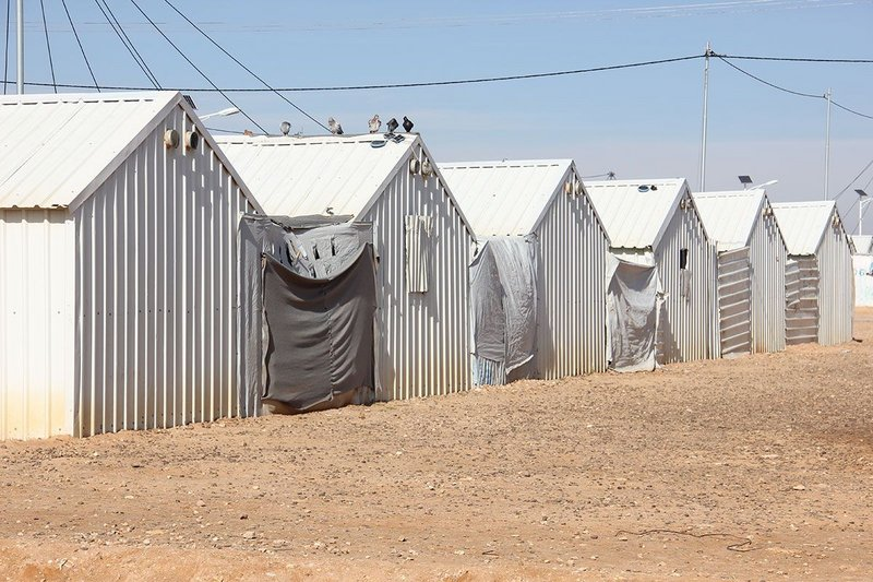 Azraq refugee camp, Jordan. Given cultural and climatic issues, where could windows work in these shelters?