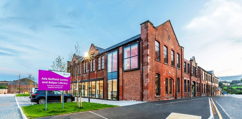 The one-time Empire Theatre became part of a factory complex and now houses Belper Library.  Credit Glancy Nicholls Architects