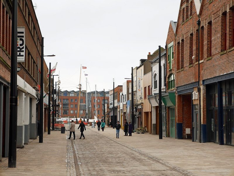 Once near-derelict, Humber Street is fast reviving.