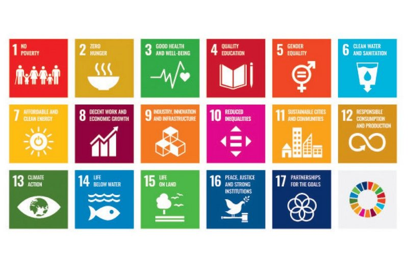 The United Nations' 17 Sustainable Development Goals.
