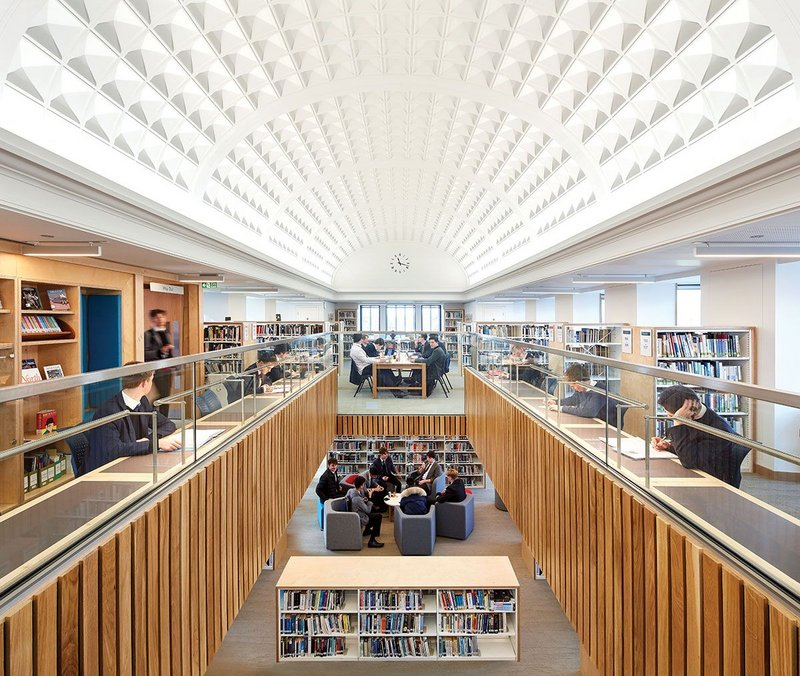 AJ retrofit category winner, BDP's Smythe Library, Tonbridge School.