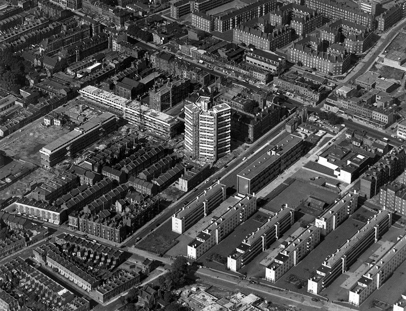 Keeling House, Bethnal Green, east London, 1958