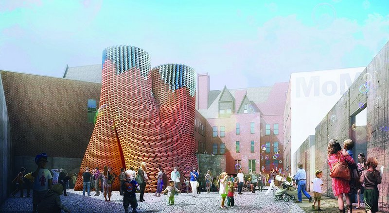 Organic bricks produced using corn stalks and living root structures will be used to build The Living's Hy-Fi, the winning design of MOMA's 2014 Young Architects Program. The temporary structure will be built at MOMA PS1 in New York in late June.