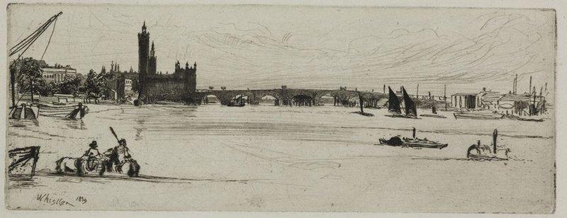James Abbott McNeill Whistler – Old Westminster Bridge, 1871.