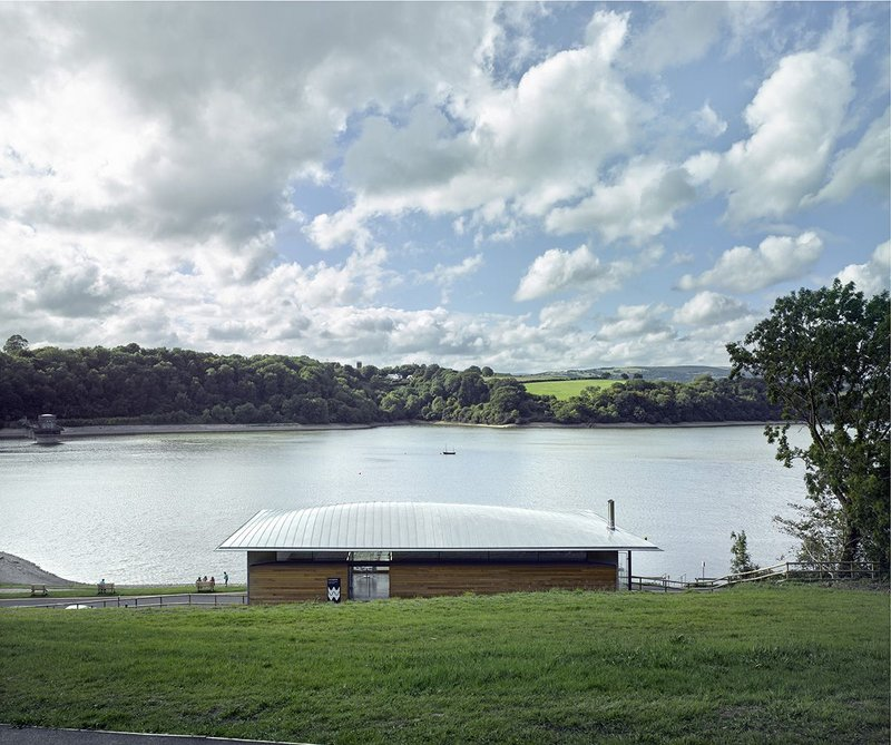 Llandegfedd visitor and watersports centres. Hall + Bednarczyk Architects for Dwr Cymru Welsh Water