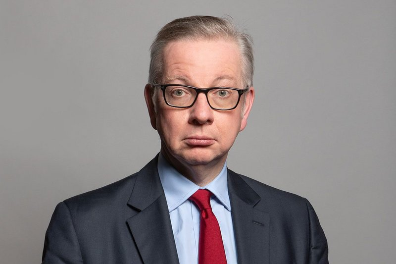 Michael Gove, new Secretary of State for the Department for Levelling Up, Housing and Communities.