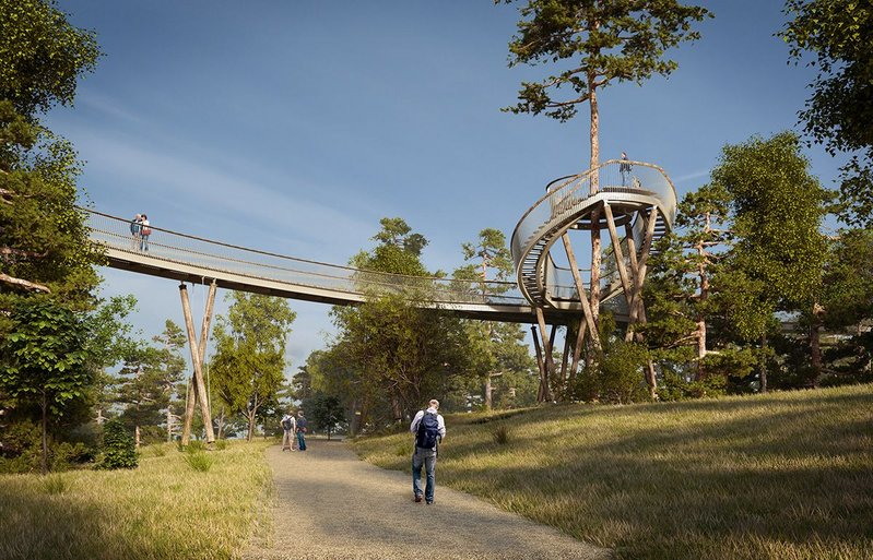 Westonbirt arboretum walkway (proposed) by Glenn Howells Architects.