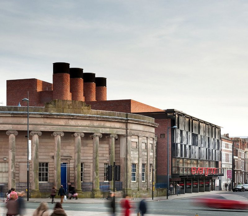 Everyman Theatre's chimneys have to generate adequate buoyancy to pull sufficient fresh air through to keep the auditorium comfortable
