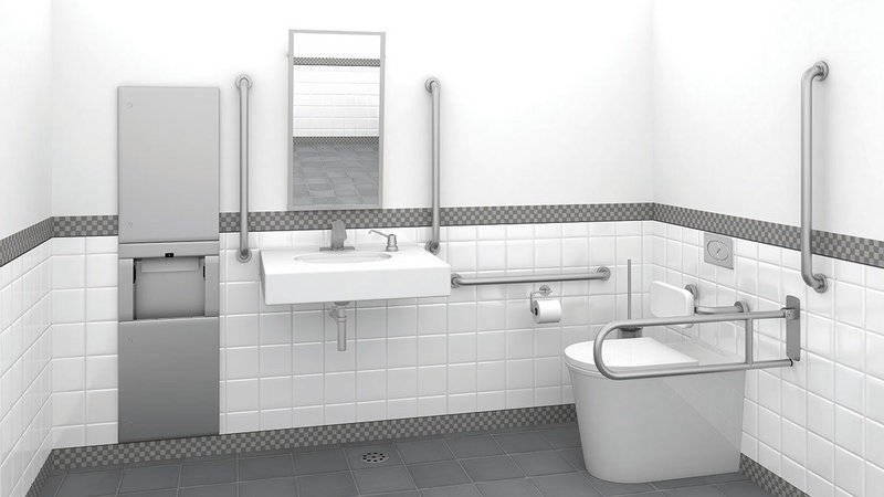 Bobrick offers five curated grab bar packs for washrooms as well as tailored recommendations.