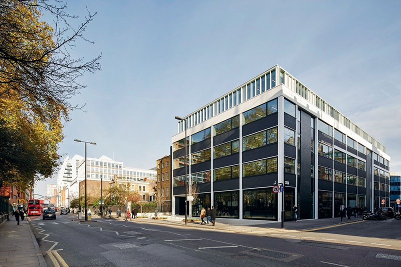 BuckleyGrayYeoman added an extra floor and introduced generous ground floor glazing as part of the refurbishment.