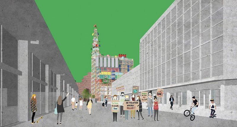 Sheffield Youth Takeover: Forge the Future! Student Anna White's live project, codesigned via workshops with 12 local teenagers, proposes  a headquarters for youth-led city design and activism.