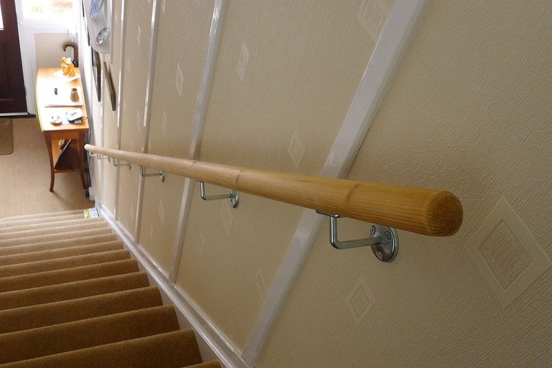 A handrail and stairs or a huge barrier to those with dementia.