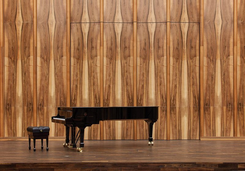 The chamber music hall at David Chipperfield's Carmen Würth Forum,