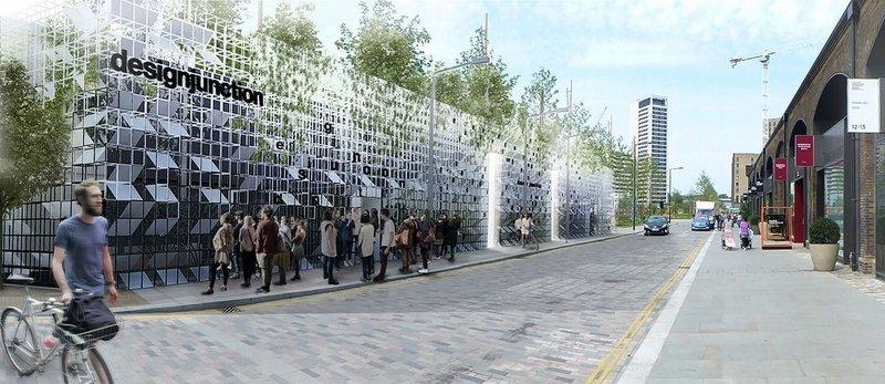 Satellite Architects' entrance portal for designjunction in King's Cross.