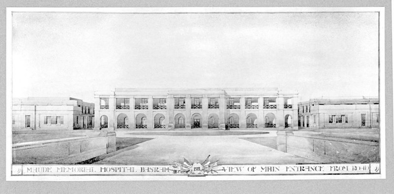 Presentation drawing for the Maud Memorial Hospital Basra, Iraq.
