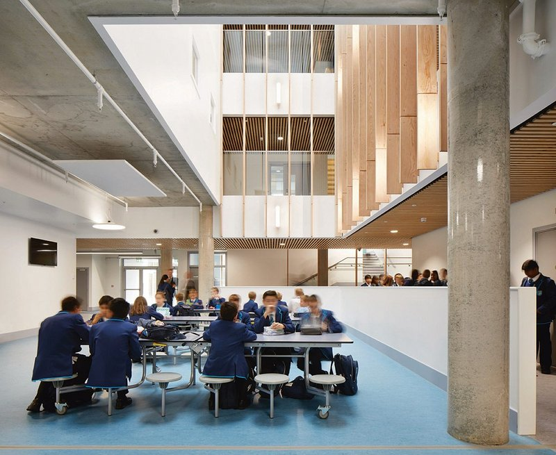 Sutton Secondary School by Architype. The practice has carried out post occupancy evaluation of education work for many years, with each new project learning from the lessons of the last and raising performance.