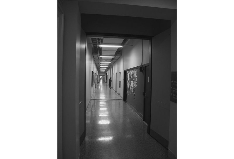 The Infinite Corridor at Massachusetts Institute of Technology.
