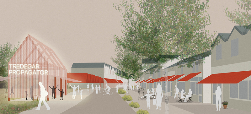 Rural Office for Architecture's proposals for bringing life back to Tredegar in Wales.