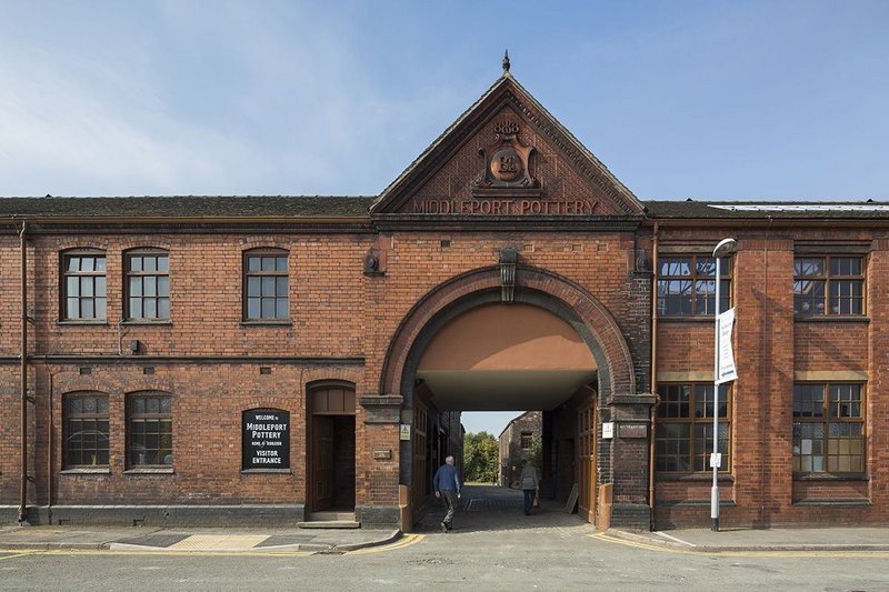 Visitor entrance to Middleport Pottery.