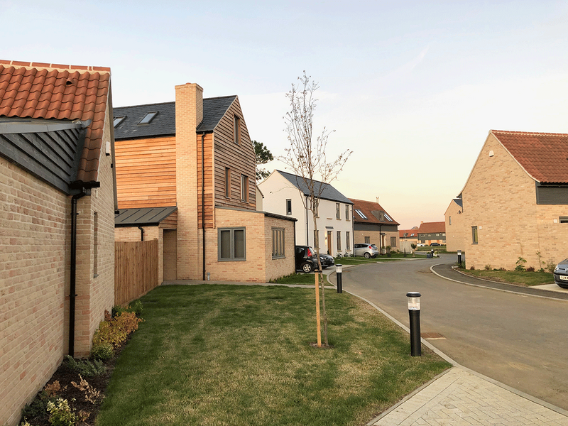 Market housing cross subsidises affordable rural housing at Manor Farm. Credit HWM Architects