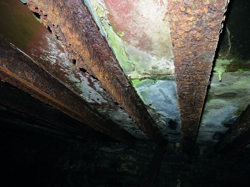 Collapsing cellar roof. Can we just take it off?