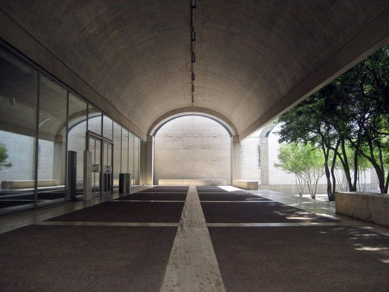 Kimbell Art Museum, Fort Worth, Louis Kahn, 1966-72