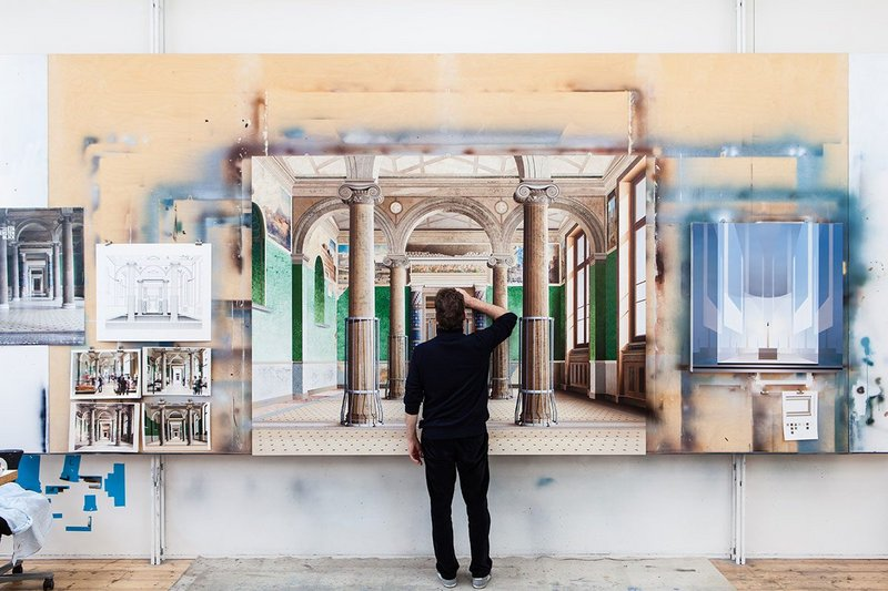 The new Vault of Contemporary Art, a digital gallery designed by MAKE Architects at the V&A, is exhibiting paintings by artist Ben Johnson.