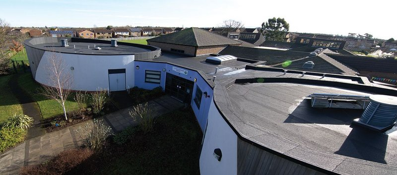 The new overlaid roof at Layfield Primary School in Yarm.