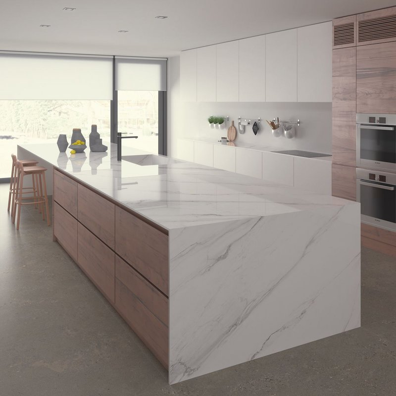 Ceralsio porcelain surfaces from CRL Stone are ideal for the kitchen, as they are non-porous, extremely hygienic and easy to care for.