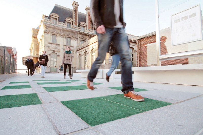 Pavegen's smart street tile.