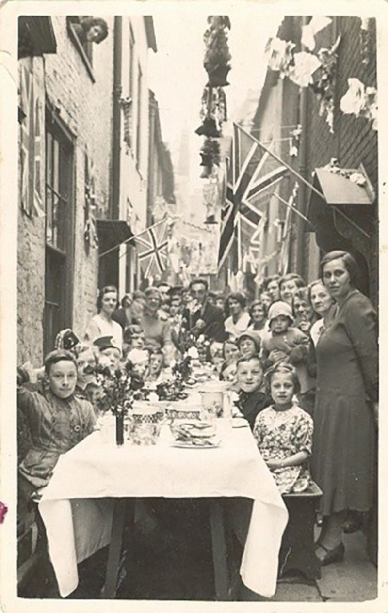 Celebratory street party in 1935 in Row 116. A bit wider than some.