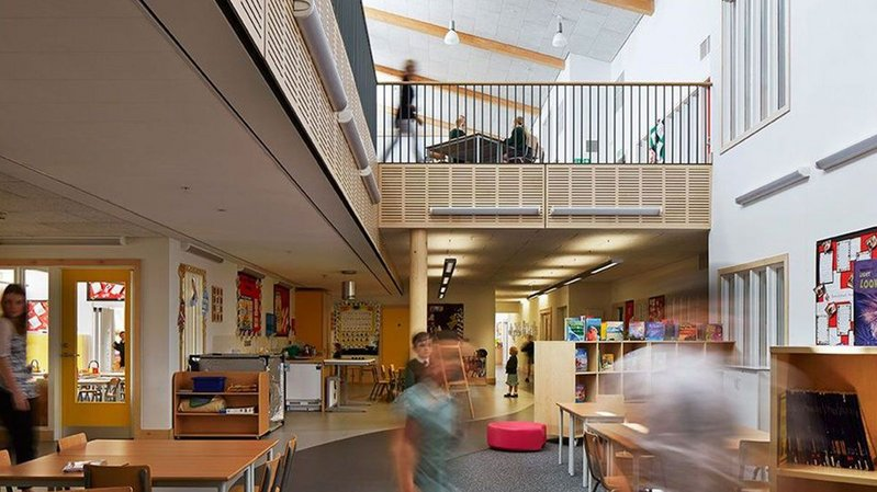 On Architype's Wilkinson Primary School in Wolverhampton, post-occupancy evaluation demonstrated it had carbon dioxide levels lower than the Department for Education's building bulletin.