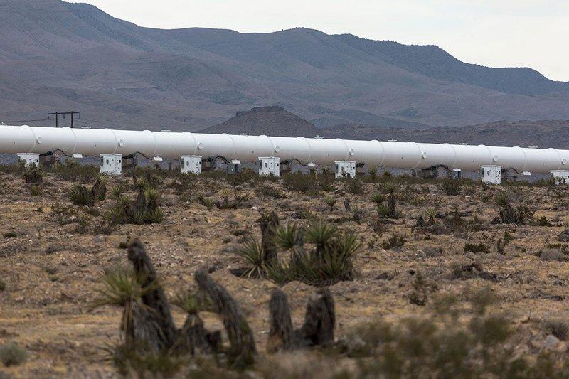 Virgin Hyperloop One test site near Las Vegas NV in 2018.