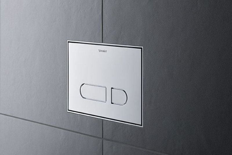 Duravit's new DuraSystem mechanical A1 toilet actuator plate.