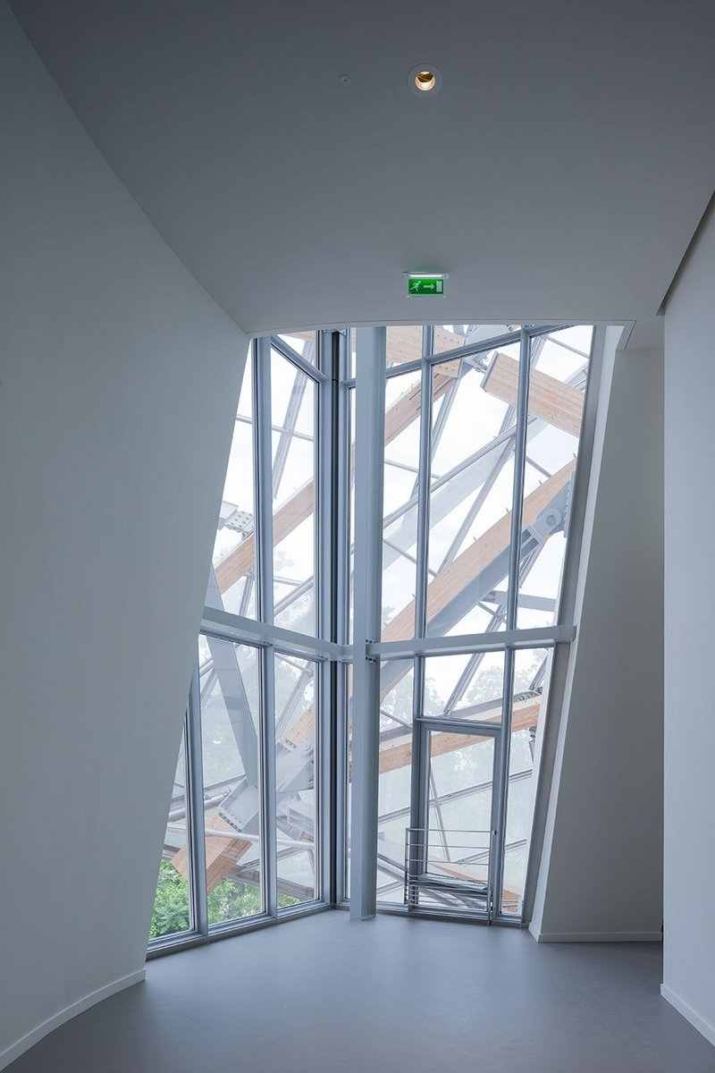Frank Gehry's Louis Vuitton Foundation, Paris. Interior view.